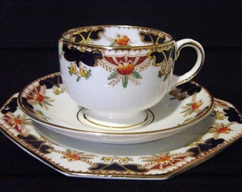 Vintage Royal Stafford Traditional Design Teacup Trio