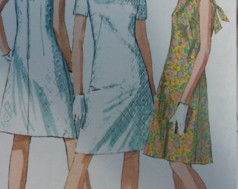 UNCUT and FF pattern Pieces Vintage Simplicity Sewing Pattern Size 14 Jiffy A-Line Dress