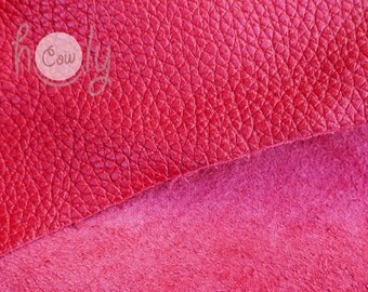 "Excellent quality genuine red cow leather 12"" x 12"" with a thickness of 1.6 mm, Cow Leather Hides, Leather Piece, Leather, Leather Supplier"