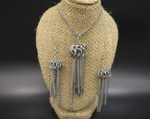 Chainmaille Jellyfish Pendant & Earrings