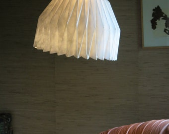 XL really big paper lamp shade | Big white pendant white for a living room | Impressive dining table lighting