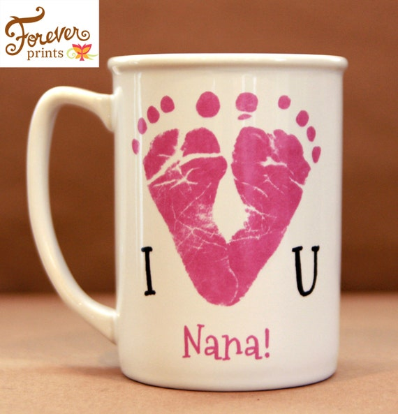 Mother's Day, Father's Day. I Love You Footprint Mug 1300_mug
