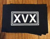 XVX Patch. Straight Edge. Vegan. Screen Printed.