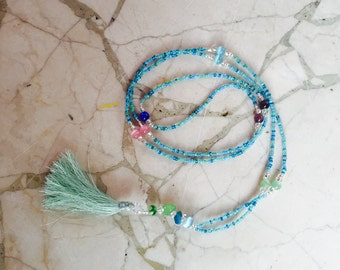 Beautiful Beaded necklace with tassel