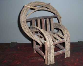 Miniature Wooden Chair Handmade Primitive Rustic Farmhouse