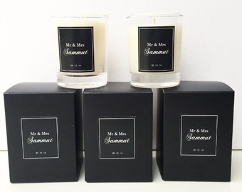 Soy Candle Wedding Favours