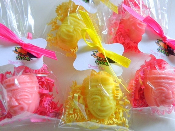 10 Luau Party Soap Favors, 20 Soaps Complete, Parties, Special Occasions, Complete with Packaging
