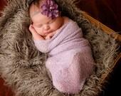 Baby Wrap and Headband Newborn Photo Prop Newborn Baby Photography Props Dusty Lilac Newborn Wrap and Headband Baby Picture Prop Set Lilac