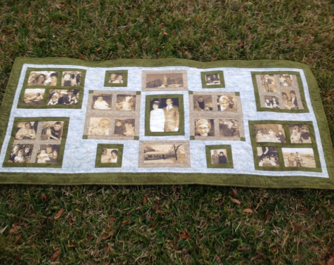 Photo Quilt-Bed runner