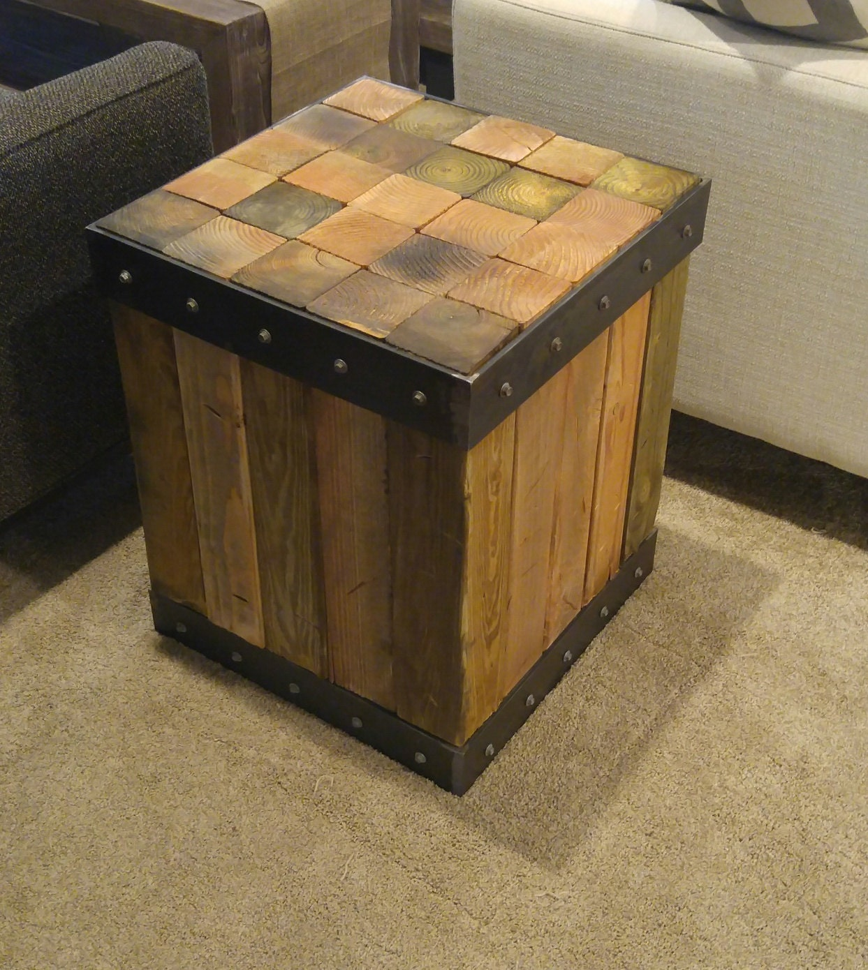 Industrial Style Pallet Side Table