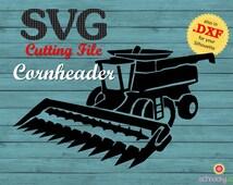 SVG Cornheader, SVG Combine, SVG Harvester, Farm Machine, Combine Harvester svg, Combine Harvester, Farming Tools, Farm Crop Handling