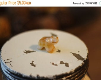 25% OFF Adorable Vintage Mini Carved Stone Bear