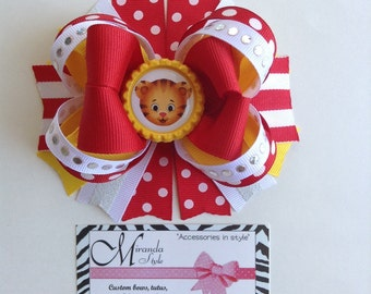 Daniel Tiger Hair Bow Tiger hair bow Daniel Tiger's Bow *** FREE SHIPPING***