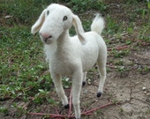 Needle felted Goat soft sculpture