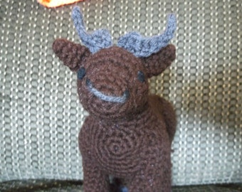 Crochet bull, bull stuff animal, bull amigurumi, cow toy, ready to ship
