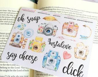 Camera Sampler Stickers, Summer Kingdom, Bible Stickers, Planner Stickers, Camera Stickers