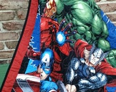 Avengers Crib Quilt, Superheroes Blanket, Captain America, Thor, Incredible Hulk, Ironman, Superheroes Quilt, Marvel Comics