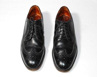 Wingtip Shoes, Oxford Shoes, Size 10 Shoes, Black Leather Shoes, Vintage Shoes, Brogue Shoes, Men's Shoes, Longwing Shoes, Gunboat Shoes