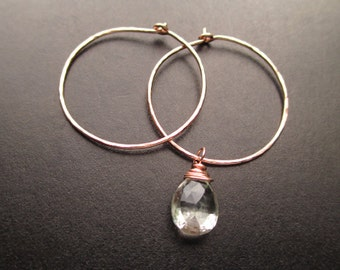 Interchangeable Earrings Hammered SMALL CLASSIC HOOPS for charms Sterling Silver, Gold Filled, Rose Gold Free Drops