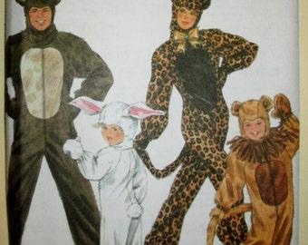 1995 Simplicity 9983 Adult Furry animals costume pattern UNCUT