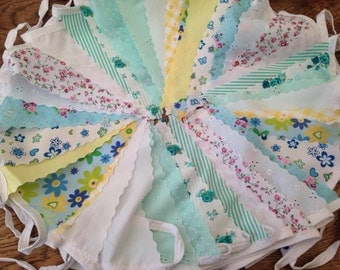 Wedding Bunting, Shabby Chic for Spring, Summer, Garden Party or Celebration, 14m