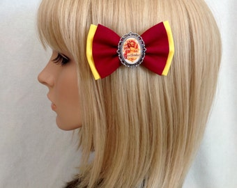 Harry Potter gryffindor crest hair bow clip rockabilly psychobilly kawaii pin up girl punk geek slytherin hufflepuff hogwarts retro