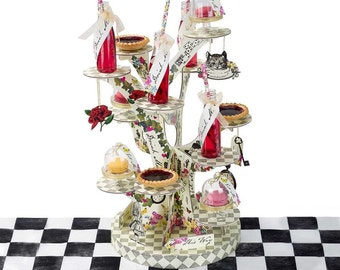 Alice in Wonderland Mad Hatter Cupcake Stand