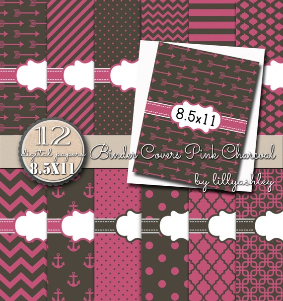 Binder Cover Printables Pack Of 12 With Spines-8.5x11 JPG