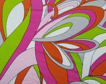 Cotton Modal Spandex Abstract Flower Print #17 Fabric Jersey Knit by yard 8/16