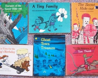 1970s Scholastic Children's Book Collection Lot of 12 - Secret Hide-Out, Just In Time for the Kings Birthday, How Spider Saved Christmas