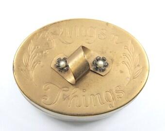 Brass Rings 'n Things Trinket Box