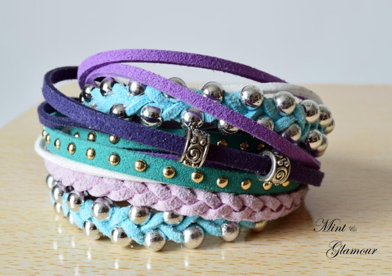 Stacked Bracelet Birthday Gift Teen Bohemian By Mintandglamour-6416