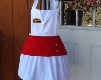 Look like In N Out Burgers apron