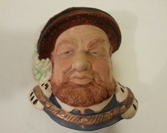 Chalkware King Henry VIII - made in England - wall hanging