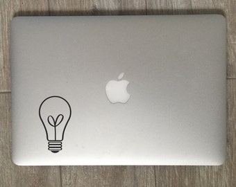 Light Bulb                 , Laptop Stickers, Laptop Decal, Macbook Decal, Car Decal, Vinyl Decal