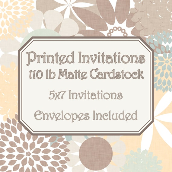 Soft image intended for printable cardstock invitations