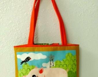 Children's Farm Animal Book Bag, PIGS