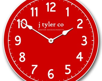New Traditional Red Wall Clock