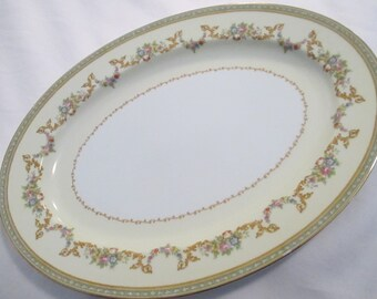 Vintage Noritake China Flomar Oval Serving Platter 16 inch