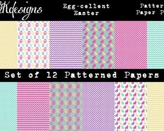 Egg-cellent Easter Digital Paper Pack
