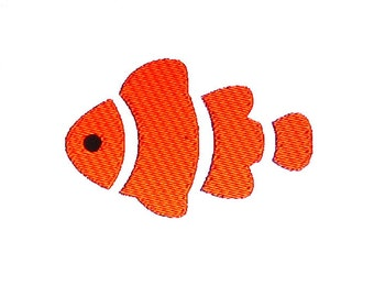 Clown Fish Embroidery Design