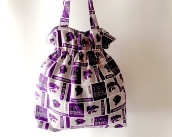 Kansas State Tote, KSU tote bag, Kansas Wildcats, Kansas Sports, KSU purse, Football tote, K State