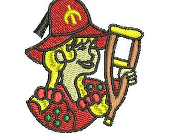 hillbilly shriner lady 2 embroidery design