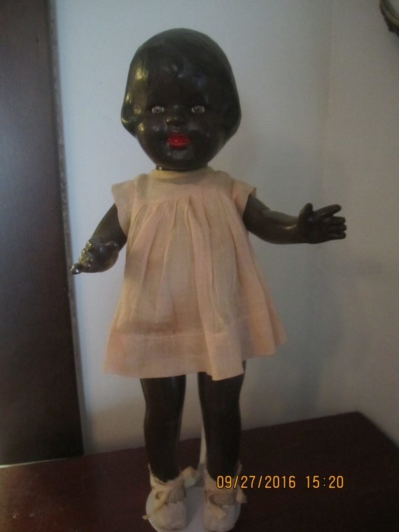 Patsy Ann Doll 1930s or 40s 16 Inches Effanbee Composition Doll Original Period Clothes and Shoes Black Patsy  Ann
