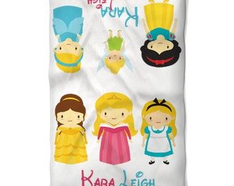Baby or Child Blanket Disney Inspired Princess Babies Personalized with Name Perfect Birthday or Baby Shower Gift