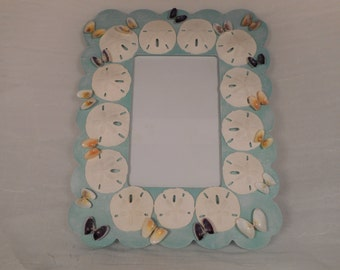 Handmade wooden sea shell picture frame