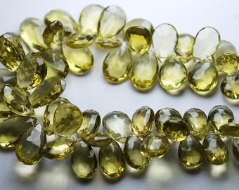 10 pcs,Superb-Honey Quartz Faceted Pear Shape Briolettes Shape 14-15mm size,
