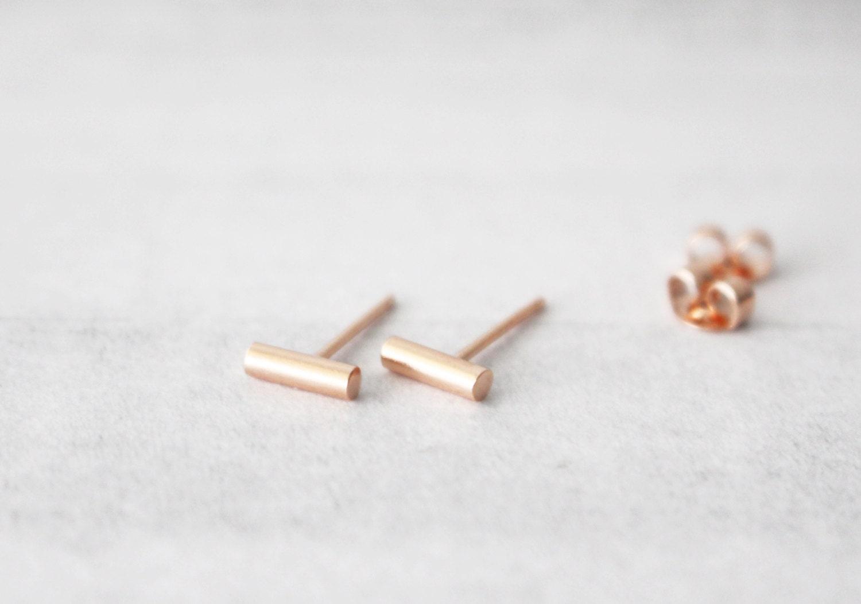 gold bar stud earrings gold bar earrings