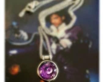 Purple Rain Drop Necklace