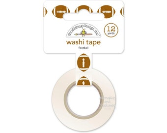 Football Washi Tape - Touchdown - Doodlebug - Gift Wrapping - Planner Washi Tape - Scrapbooking Embellishment - 510610
